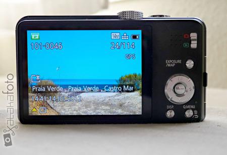 Lumix TZ30 detalle de la pantalla