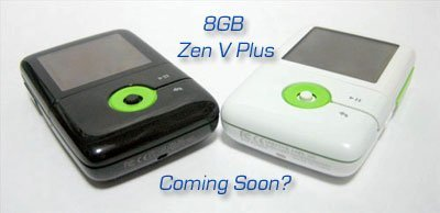 Posible Zen V Plus de 8 GB
