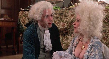 Tom Hulce y Elizabeth Berridge en Amadeus