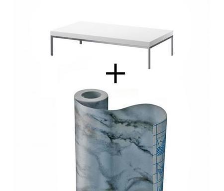 Convierte tu mesa de Ikea en una sofisticada mesa de mármol