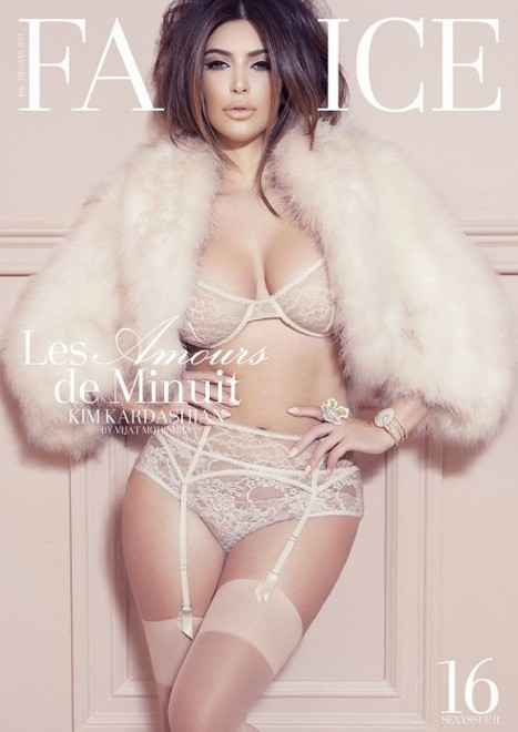 Cmo Le Gusta A Kim Kardashian Posar En Lencera Fina -9102