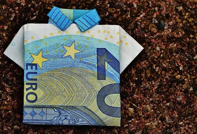 Billete de veinte euros(EUR) con manera de jersey.