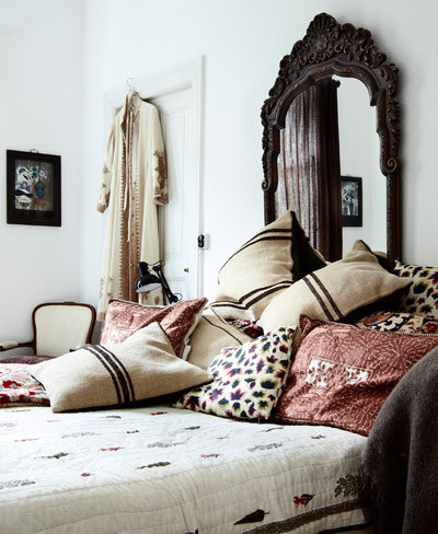 Dormitorio de estilo étnico