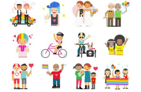 Pack de iconos gay de Facebook Messenger