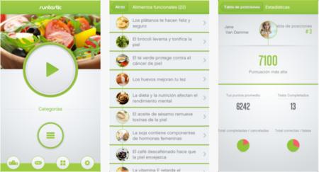 Runtastic test de nutrición: app para dar respuesta a los mitos de nutrición