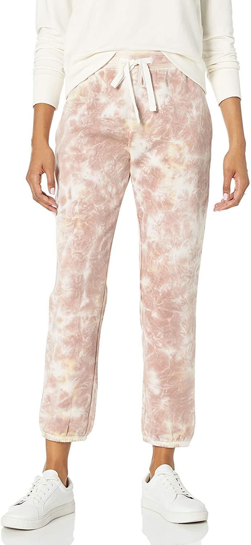 Marca Amazon - Dina Pantalón Deportivo con Dobladillo Elástico y Forro Polar para Mujer por The Drop