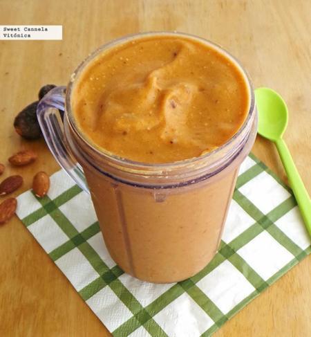 Smoothie de calabaza con proteína. Receta saludable