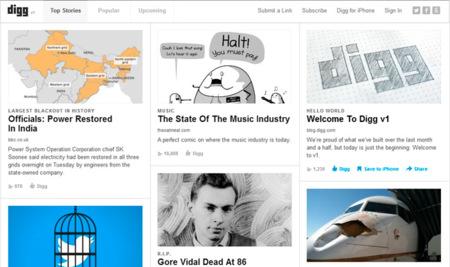 El nuevo Digg ya está online y recibe sus primeras críticas por depender excesivamente de Facebook
