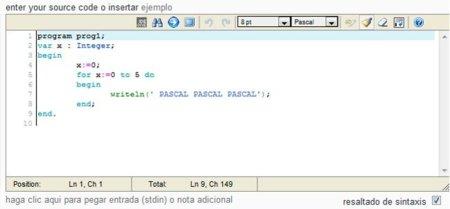 Ideone: Un editor online de código que además compila y ejecuta más de 40 lenguajes