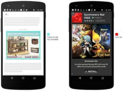 Google quiere reducir los toques accidentales en la publicidad móvil