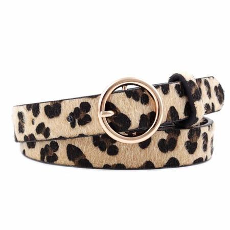 Ardorman Cinturón de Cuero con Estampado de Leopardo para Mujer con Hebilla de aleación, Hebilla de Moda para Mujer Cinturón Decorativo para Pantalones de Mezclilla Faldas Chaquetas Vestidos