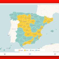 'Volvemos a salir': un mapa interactivo que te cuenta todo sobre las fases de la desescalada en España