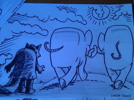 El mapache y el elefante de Lance Tooks 2