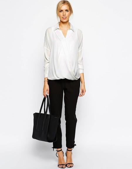 Camisa Blanca Cruzada Premama