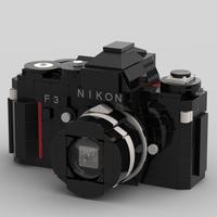 Crean los planos para hacer una Nikon F3 con piezas de Lego