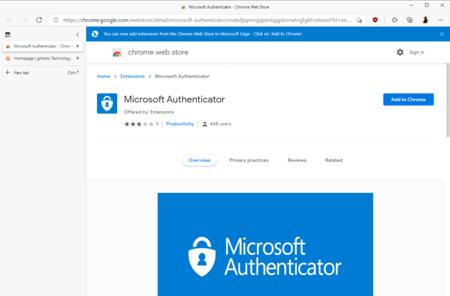 La extensión falsa de phishing de Microsoft Authenticator desaparece por fin de la Chrome Web Store tras un mes