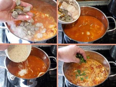Receta de arroz caldoso con coquinas, paso 2