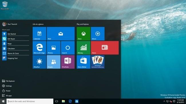 La build 10147 de Windows 10 se filtra, revelando muchas novedades interesantes