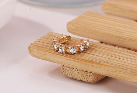 Pendientes Piercing Ear cuff cristales Aliexpress 11