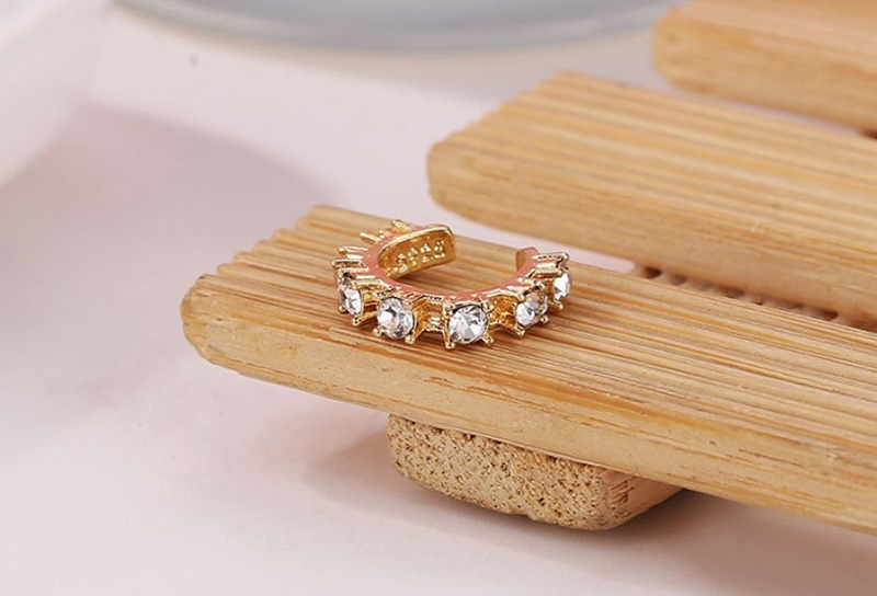SHUANGR oreja brazalete Micro pavé CZ círculo brazalete cristal brillante oro piercing pila tamaño pequeño niña pendiente brazalete nuevo