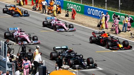 Bottas Verstappen Espana F1 2020