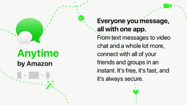 Todos quieren su propia aplicación de mensajería: Amazon™ trabaja en Anytime
