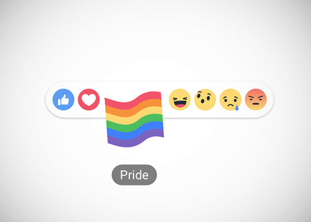 Reacciones Facebook Bandera Arcoris Lgbt