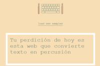 Tu perdición de hoy es esta web que convierte texto en percusión