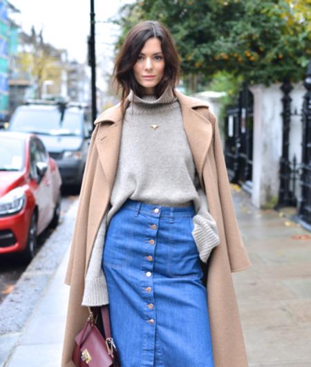 Las faldas denim con botones son la nueva tendencia viral, ¿quieres la tuya?