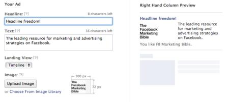 Más personalización en los anuncios de Facebook: ahora se podrá elegir el texto del título