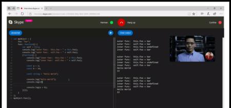 Skype añade un editor de código en tiempo real a sus videollamadas para entrevistar programadores