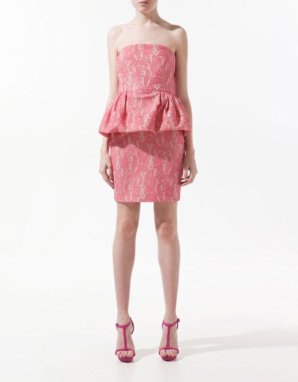 Vestido peplum de Zara