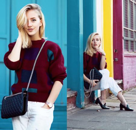 El burdeos colorea el street style de otoño: 9 looks para inspirarte