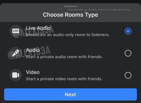 Facebook social audio