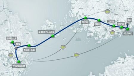 Hyperloop One Stockholm Helsinki Route