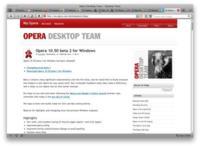 Avances en la fase de desarrollo de Opera 10.50