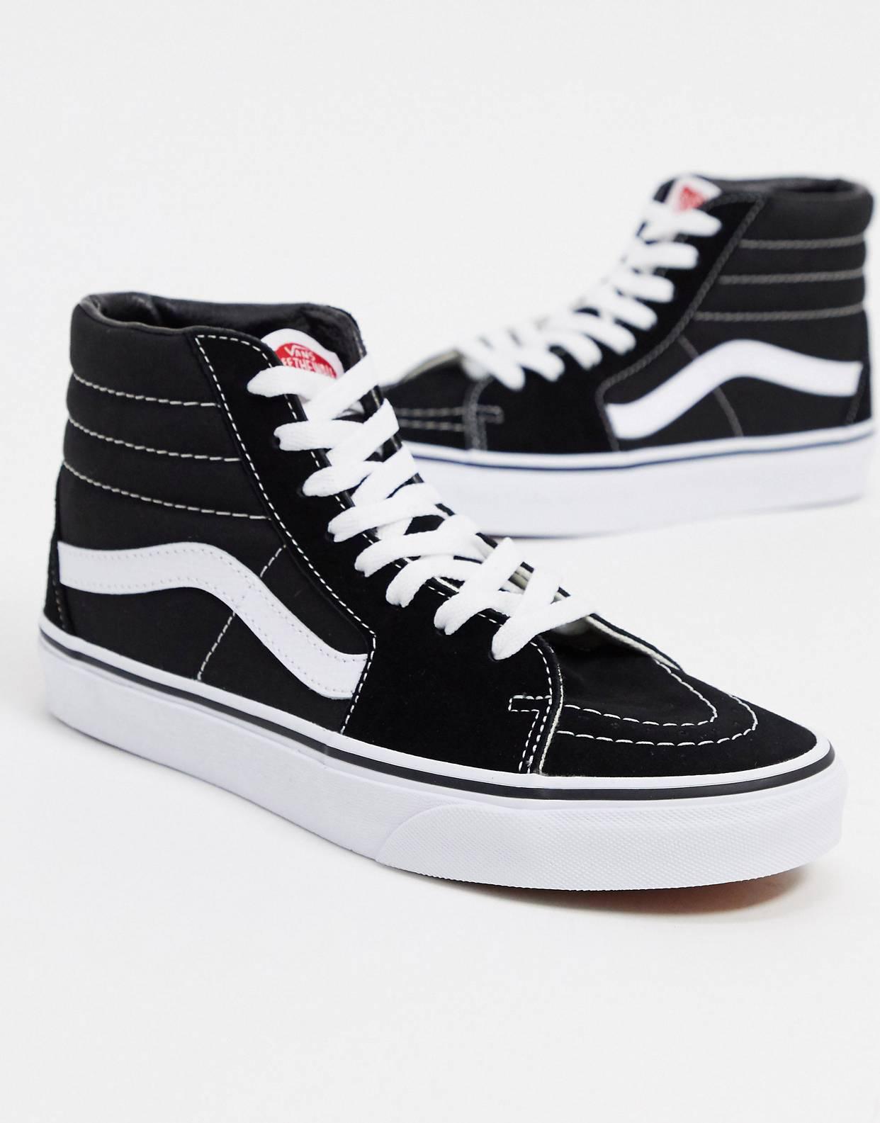 Zapatillas SK8-Hi en blanco y negro de Vans