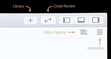 Nueva barra de menú de Xcode 11