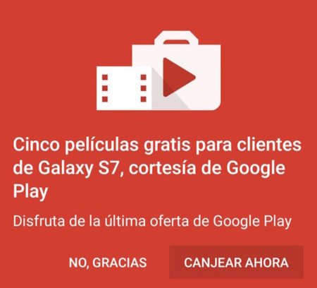 ¿Tienes un Galaxy S7? Pues Google está dando 5 películas gratis en Play Movies