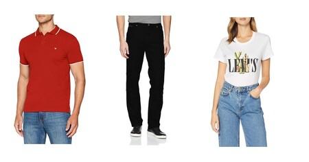 Chollos en tallas sueltas de pantalones, camisetas o polos de marcas como Levi's, Wrangler o Lee en Amazon