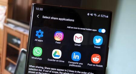 Cómo personalizar a fondo el menú 'Compartir' de los Samsung Galaxy