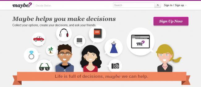 Maybe, la comunidad online que nos ayuda a tomar la mejor decisión.