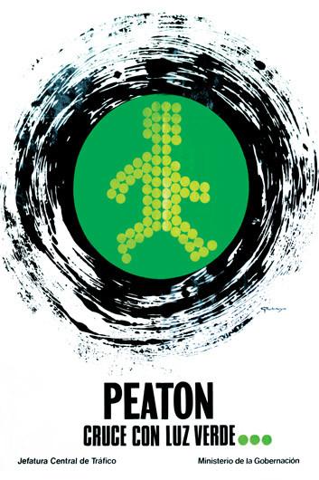 1973 Peaton Cruce Con Luz Verde