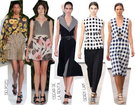 Semana de la Moda de Nueva York Primavera Verano 2014 Tendencias Cuadros vichy estampado gingham