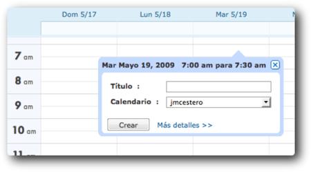 Calendario en Zoho