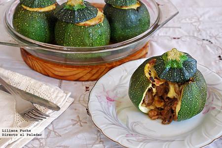 Calabacines redondos rellenos de boletus y gambones: receta para vestir de lujo las verduras