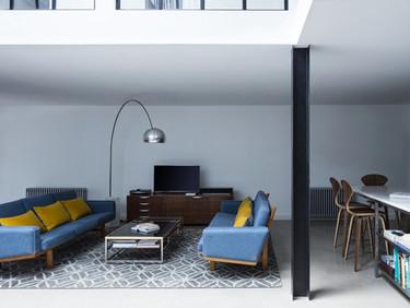 Una bodega textil transformada en apartamento moderno en Londres
