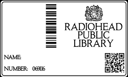 Radiohead Public Library Member 069116