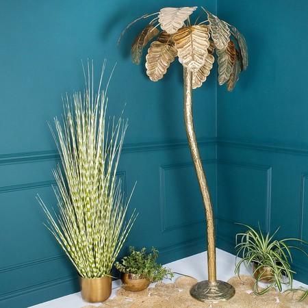 Lámpara de latón con forma de palmera