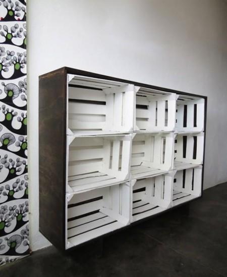 Las mejores y las peores ideas de recicladecoraci n - Estanterias con cajas de fruta ...